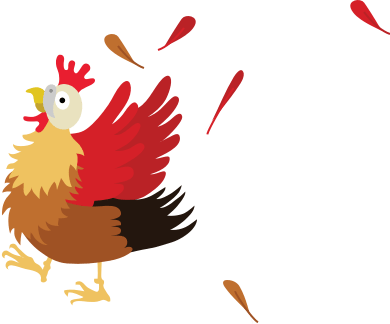 Chaat chicken illustration