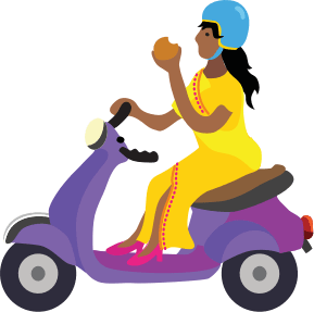 Chaat scooter illustration