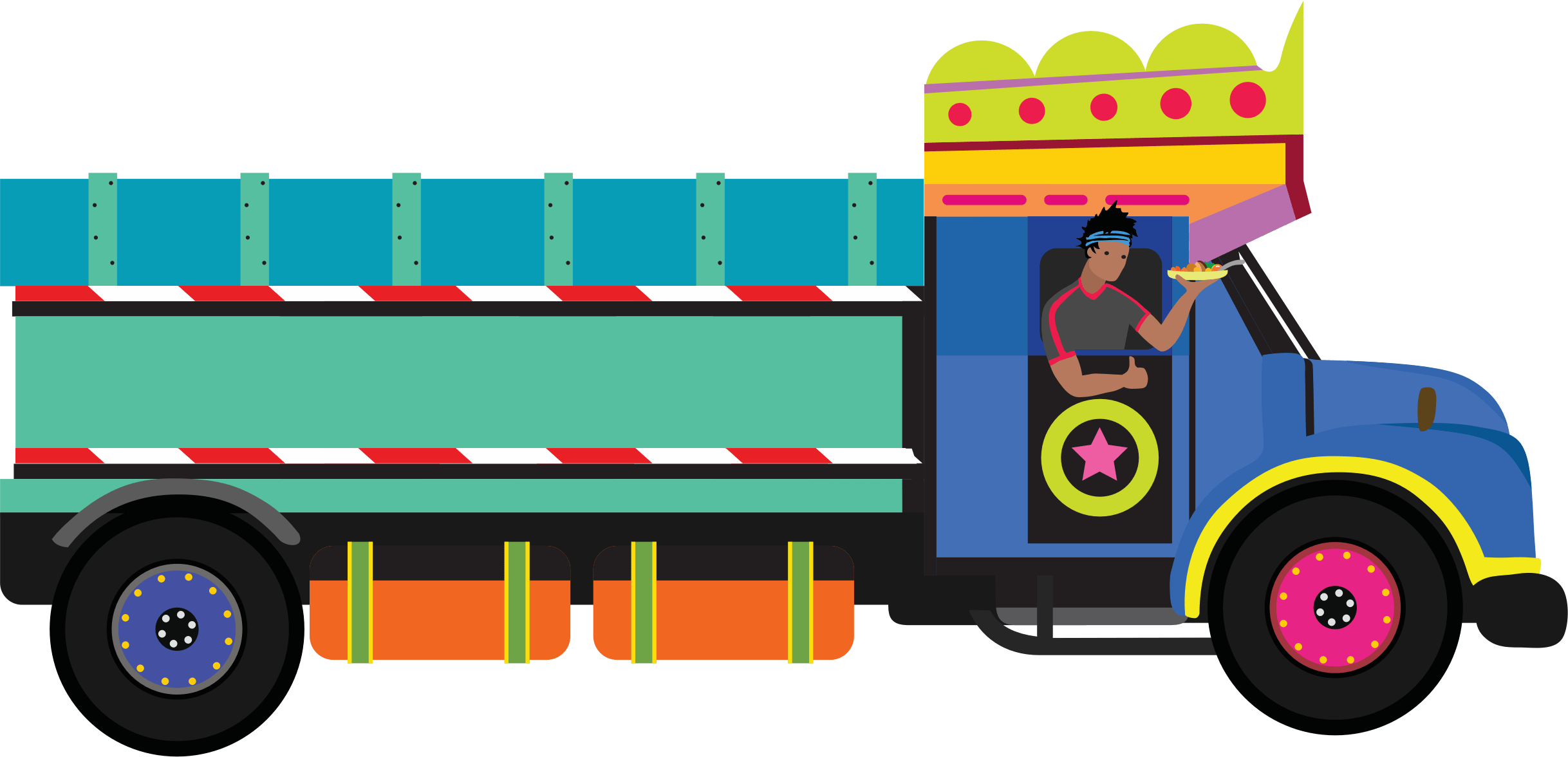 Chaat food cart illustration