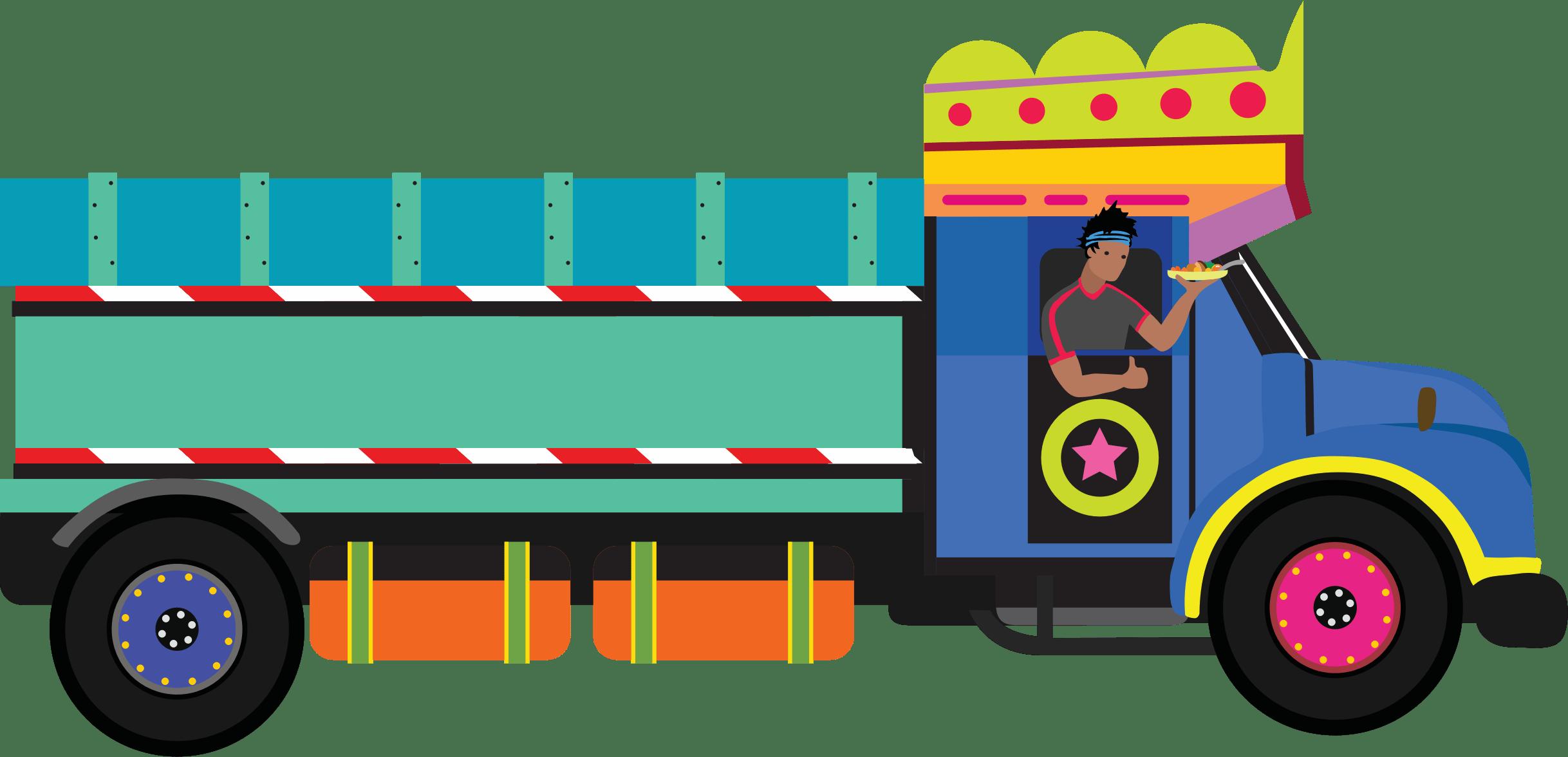 Chaat food cart illustration