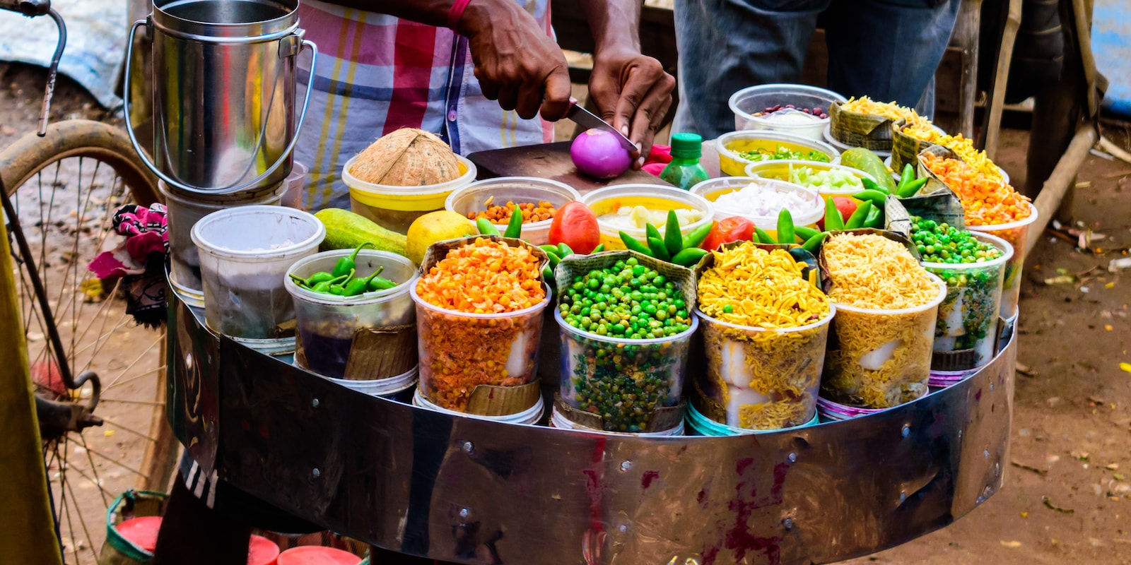 the chaat company indian street food stand